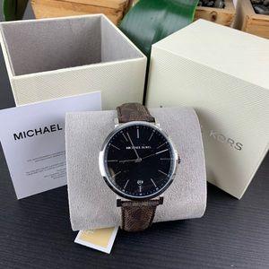 Michael Kors Irving Three-Hand Brown PVC Watch
